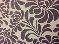 2 rolls of wallpaper lilac/pale purple glitter