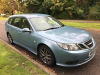 SAAB 9-3 Vectra Sport DTH 1910cc Turbo Diesel 6 Speed Manual 5 door estate 08 Plate 28/04/2008 Blue
