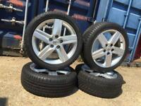 "17"" Toyota alloy wheels with tyres"