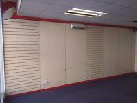 Shop shelving slat boards (full system)