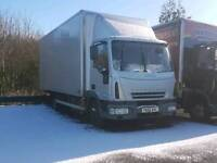 2007 75e18 iveco box with tail lift