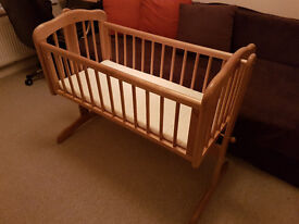Baby Cot Swinging Crib Mothercare with Mattress