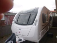 2013 Swift Challenger 565 SE 4 berth touring caravan, with twin beds. Mover & extras £14,000 o.n.o