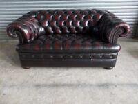 Oxblood Chesterfield Leather 2-seater Sofa (Suite)