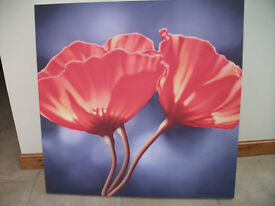 Poppy Canvas by Ken Messom ex Relax