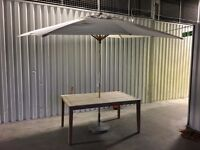 John Lewis garden table with umbrella used in very good condition // free delivery