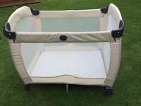Graco Beige and cream travel Cot play pen