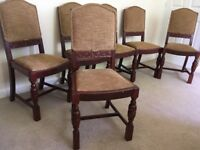 Six Antique Chairs Recently Upholstered