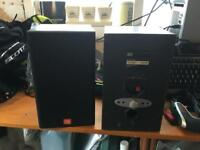 JBL book shelf speakers.