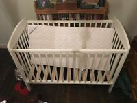 Baby kit - cot, mattress, highchair, bath seat