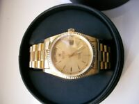 Cyma Day-Date automatic mechanical wristwatch - Swiss New old stock - late '90s - Rolex homage - GP