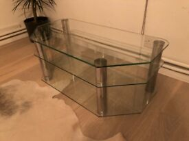 Glass 3 Tier TV Stand - Perfect for living room