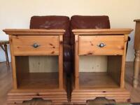 Bedside cabinets tables Schreiber quality wooden