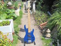 Aria 5 string bass guitar