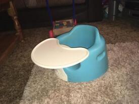 'Bumbo' seat, blue
