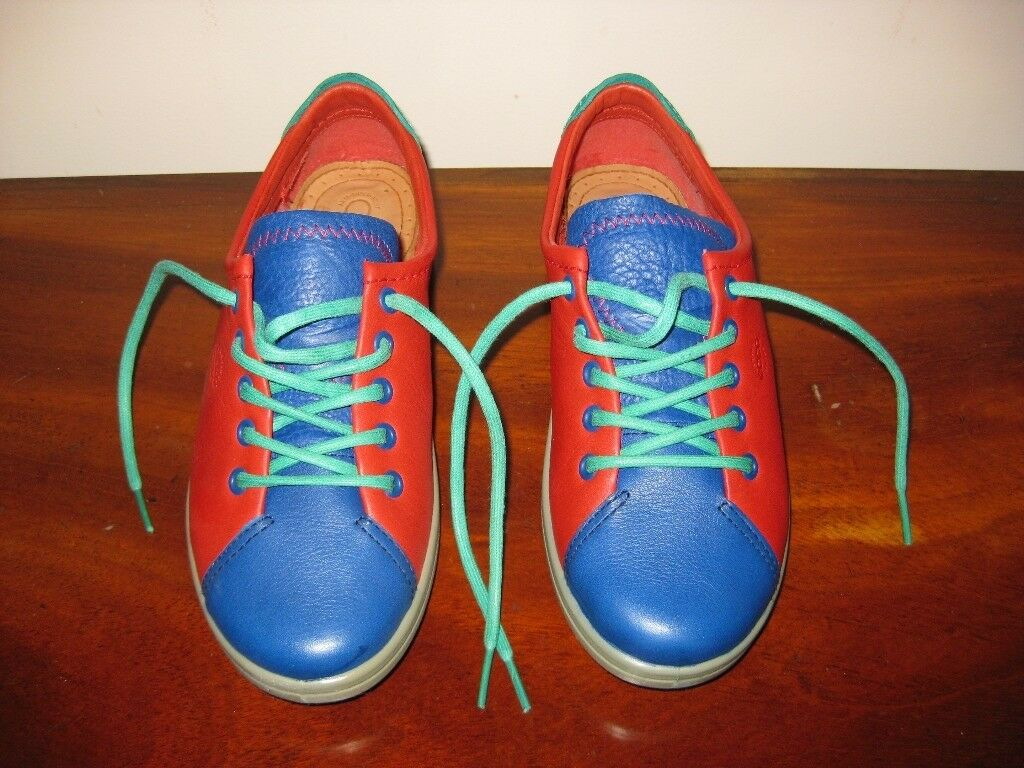 Multi-coloured ECCO lace-ups, size 36