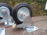 Heavy duty castor wheels (having a clear out must go) £5 each bargain