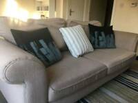 3 Seater Sofa, Chair and Pouffe with Storage