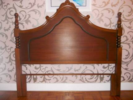 SOLID TIMBER - ORNATE DOUBLE BED HEAD - FANTASTIC CONDITION Mount Lewis Bankstown Area Preview