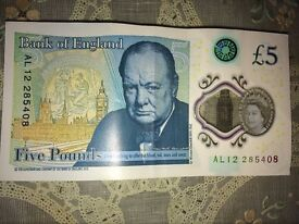 New Five Pound Notes and World War Rare Coins - Notes serial number starting with AL10 and BA01