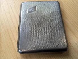 Antique silver coloured cigarette case