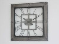 Vintage Industrial Metal Wall Clock