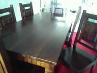 Beautiful hardwood table and chairs