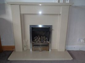 Fire Surround - beige micro marble