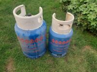 Two Empty Gas Bottles/Cylinders - 1x 13kg and 1 x 7kg