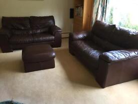Leather sofas 2x 2 seaters