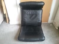 Leather poang chair cushion & footstool