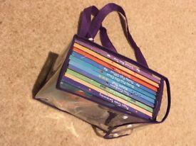 Pepa pig books in a rucksack