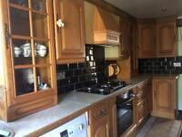 Kitchen wooden oak furniture
