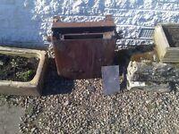 Rusty old back boiler