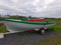 16ft orkney fibre glass boat