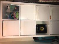 White storage unit & boxes