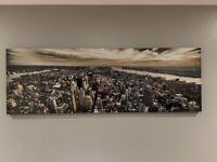 New York skyline gloss canvas