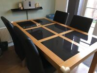 Glass Dining Table and 4 Chairs in Excellent Condition