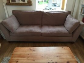 For sale Marks and Spencer's mink sofa £80. Buyer to collect