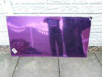 outside purple mirror.