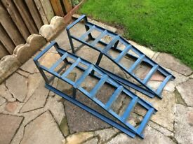 Heavy Duty Car and Light Van Wheel Ramps 2500 Kg