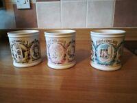 3 Denby Pottery Mugs Unused