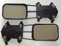 PAIR OF 'AVIA' CARAVAN TOWING MIRRORS / EXTENSIONS FOR CAR WING MIRRORS - USED BUT IN GOOD CONDITION
