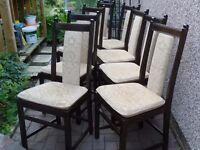 Dining Chairs-Ercol- set of 8 in first class condition-Can maybe deliver-XMAS is coming!