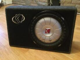 """12"""" Kicker Sub & Box (NOT Alpine JBL Pioneer JL Hifonics Rockford )"""