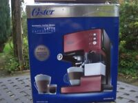 Oster Prima Latte , Espresso,Cappuccino Coffee Machine RED