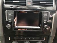 Vw golf mk7 infotainment unit / headunit dab radio for mbq platform mk7 only