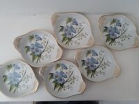 6 Spode Stafford Flowers dishes