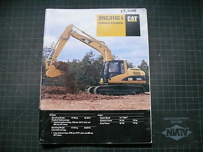 Cat Caterpillar 315c L Excavator Sales Brochure Manual
