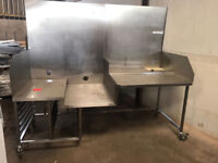 CATERING EQUIPMENT WORK BENCH TABLE 2.2MX1M